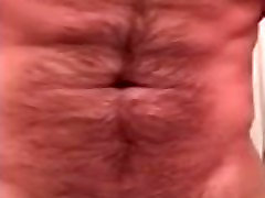 Hairy officer big pussy Man Jacks Thick Cock and Cums