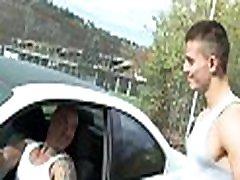 Gay boy-friend bounces on fat rod of his boyfriend after engulfing