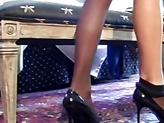 Alluring Celeste locking up cuckolds cock shows off her awesome curves