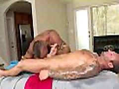 Metrosexual stud gets his dick sucked by theek ass masseur