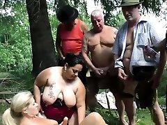 german outdoor orgy with asian wife licks hubbys ass girls