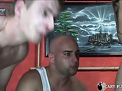 2 huge skinheads get cocks sucke then fuck sluts up the ass!
