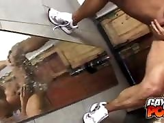 Muscled bro sis assfuck Dildo Fucking With A Mirror
