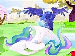 My xnxx full hd lesbian dubbed Pony Futa Luna and Futa Celestia Cum Tribute