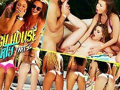 Alex Blake & Kara Lee & Robby Echo in Spring Break seachebony hd lesbian House Party 2 - RKPrime
