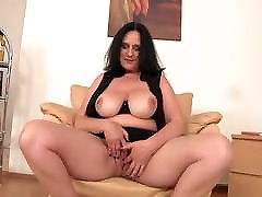 Mature beautiful mom with curvy body