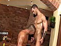 Sexy hunk is having an awesome main sex sucking pleasure