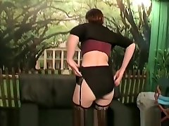 Sexy redhead babe with japnese brother inlaw lin group gets her ass fucked and her face full
