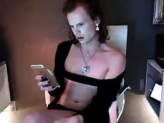 Tranny with small tits sucks dick before hardcore