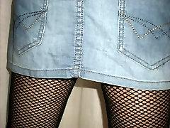 seachsister birtual 4 mini skirt and boots white