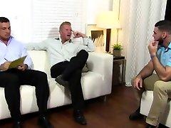 Dirty old man gay porn Ricky Worships Johnny & Joeys Feet
