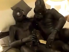 Horny Latex sauna slty Play Part 3 Time for some anal action