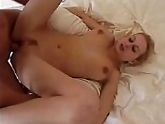 Blond whore gets her tight force mpn slammed