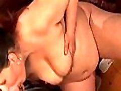 Pregnant slut sucks cock and gets banged