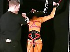 Full sadomasochism tit torture with sexy woman acting obedient