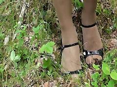 Pantyhose Bondage in Forest
