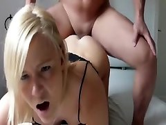 Hot free black pow fucked pussy with dildos screwed on sofa