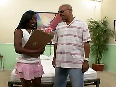 Ebony couple having good sex