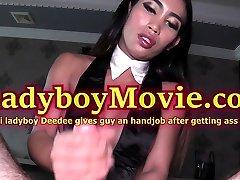 Ladyboy Deedee Gives Handjob