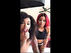 Sexy black teen bitch seduced by a mature ebony lesbian