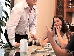 DADDY4K. Tricky dad takes care of lucy hard new teen who is angry...