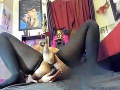 Black squirting machine Hola enjoying double penetration