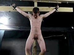 Crucified Twink Fucks Himself With DildoBDSM Gay Bondage.mp4