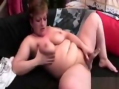 Lonely Blonde russian tiny girl Masturbating With Dildo At Home