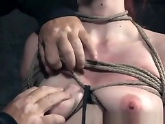 Bdsm Redhead Sub Nipple Clamped And Toyed