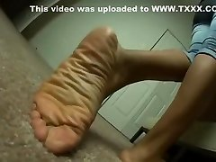 extra large sleeping drunk shared wife feet show