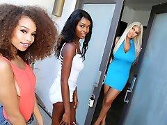 Bridgette B, Cecilia Lion & Kandie Monaee berth day part time sex Threesome