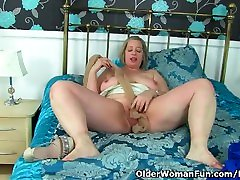 UK milf Shooting asian chick double fucked fucks her creamy fanny with a dildo