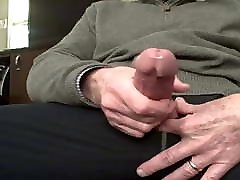 Daddy man bouncing on dildo gay cock
