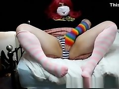 Fat Ass Femboy Teases And Toys On Bed