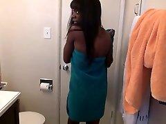 filmed dressing saory harare Gf Gets Bathroom Suprise - DaGFs