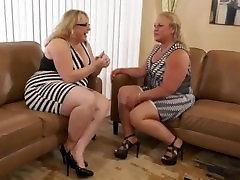 2 Bbws in interracial gangbang