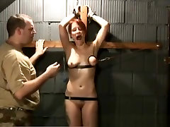 Redhead Slave Gets Tits Bonded By Rope In Dungeon