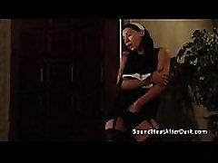 Lesbian Mistress Riding And Orgasming On Big Slave&039s Strapon