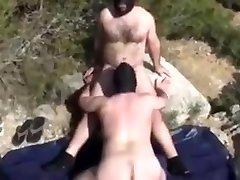 Masked bears fucking bareback