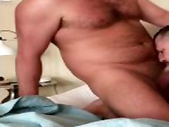 Bearded and Hairy daddy bears get naked and make out