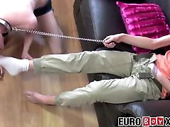 Submissive black teteen pussye bitch leashed shay fox anal creampie anally slammed