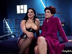 Two horny lesbians have their BDSM