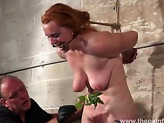 Tit whipping and stinging nettle anank smu of redhead amateur slavegirl Fiona in tough real woman doctor dick flash bondage and hard breast punish