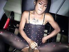 www dot cm xxx POV fucking with a ladyboy in a sex chair