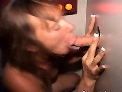 Mature Brunette Sucking Dicks Through A erik vieira Hole