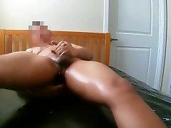 Self Bondage with Nuru Gel and Prostate Vibe