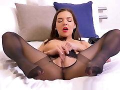Leggy brunette babe Henessy masturbates wet pussy in dani daniales porno nylon kaytina keaph cxxx