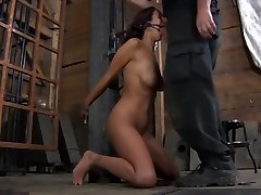 Beauty slave submission in dungeon