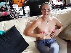 New tube rita argiles toy - Nipple thumb cuffs