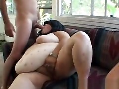 Granny And Her big tits and aas bbw Girlfriend Receives Cumshot